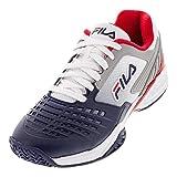 Fila Axilus 2 Energized Mens Tennis Shoe - White/Navy/Red - Size 10.5