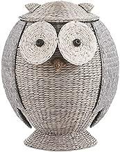 wicker owl hamper