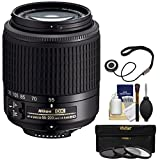 Nikon 55-200mm f/4-5.6G DX AF-S ED Zoom-Nikkor Lens with 3 UV/CPL/ND8 Filters + Kit for D3200, D3300, D5300, D5500, D7100, D7200 Cameras