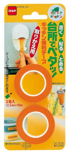 ニトムズ キッチン便利テープ 取りかえ用 【書く・貼る・留める。キッチンで使える便利アイテム! 】 M 2430