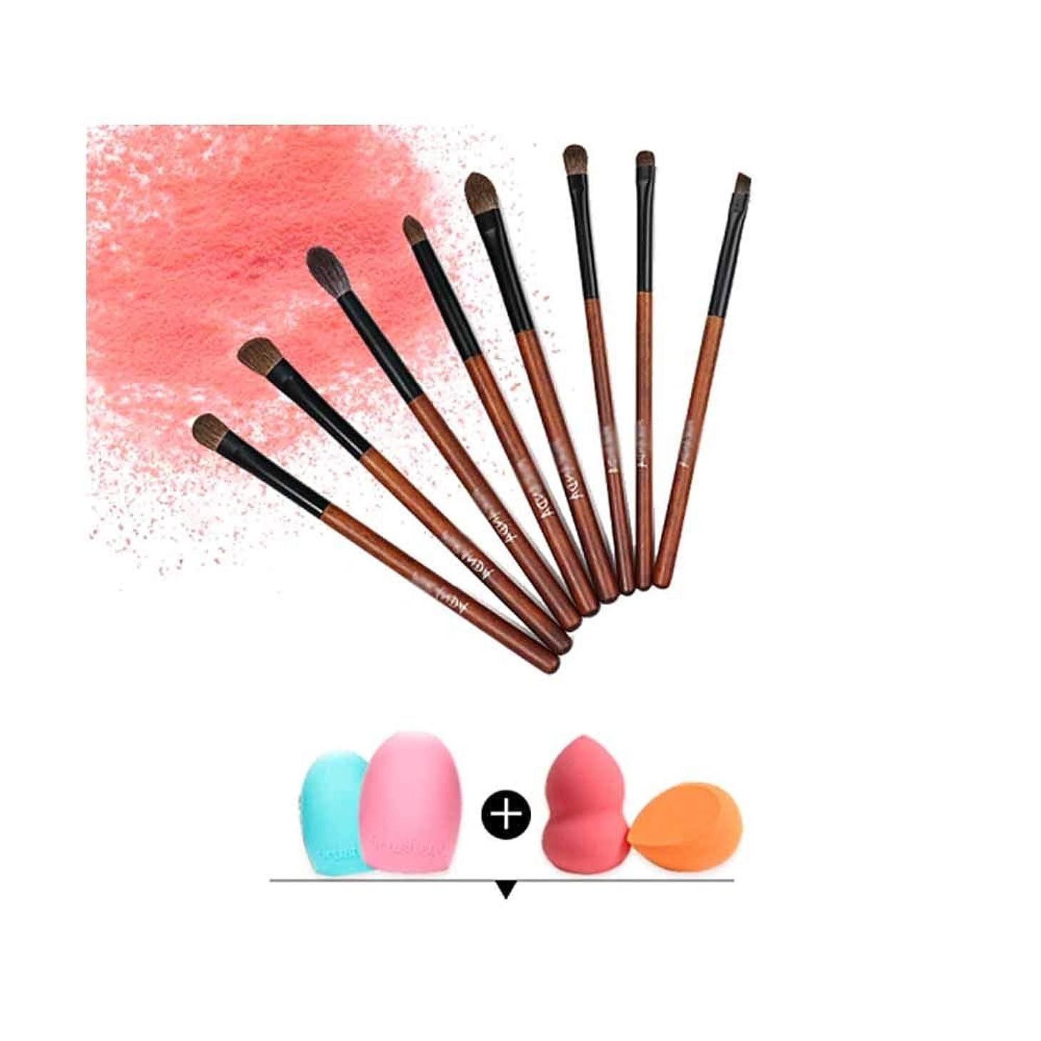 組み立てる圧力引数Qiyuezhuangshi001 化粧ブラシ、化粧ブラシセット8スティック、動物ブラシセット、快適で柔らかく、絶妙で美しい,人間工学に基づいたデザイン (Color : Brown)