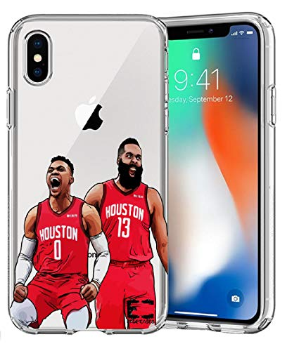 Epic Cases iPhone 6 Plus iPhone 7/iPhone 8 funda ultra delgada transparente de la serie de baloncesto de Apple – Russ The Brodie (iPhone 6/7/8)