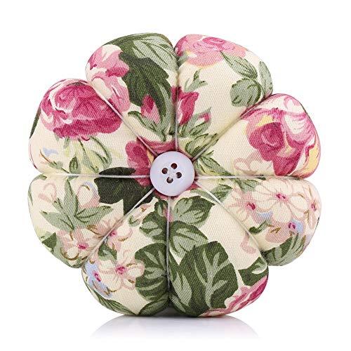 Delaman Pin Cushion, Creative Pumpkin Pincushions, 8 Petals Daisy Shaped Pin Cushion, Sewing Needles Cushion with Elastic Wrist Belt, for Sewing Quilting (Color : #4)