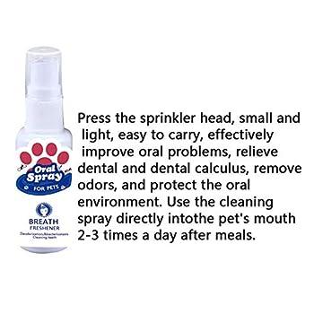 BOLANA Animal de Compagnie Dents Souffle Nettoyage Désodorisant Chien Dentaire Spray Soin Nettoyant Plaquette Solvant - comme Indiqué, 1 pc