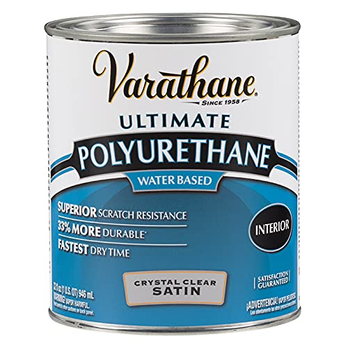 Varathane 200241H Water-Based Ultimate Polyurethane, Quart, Satin Finish