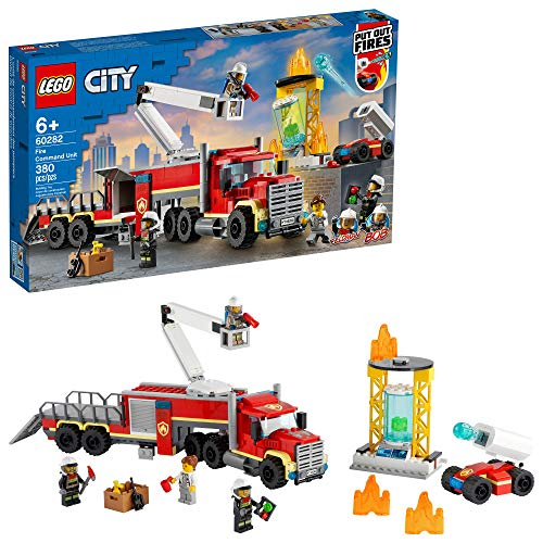 LEGO City Fire Command Unit 60282 Building Kit; Fun Firefighter Toy Building Set for Kids, New 2021 (380 Pieces)