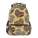 Heart Leopard Zebra Giraffe Print Backpack School Bookbag Rucksack Shoulder Book Bag for Boys Girls Women Travel Daypacks