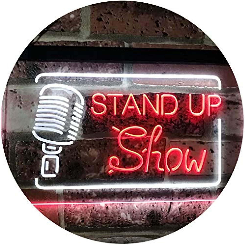 ADVPRO Stand-up Comedy Show Live Dual Farbe LED Barlicht Neonlicht Lichtwerbung Neon Sign Weiß & rot 16  x 12  st6s43-i3097-wr