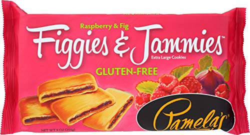 Pamela's Products Figgies & Jammies Extra Large Cookies Gluten Free Raspberry & Fig -- 9 oz (Pack of 1)