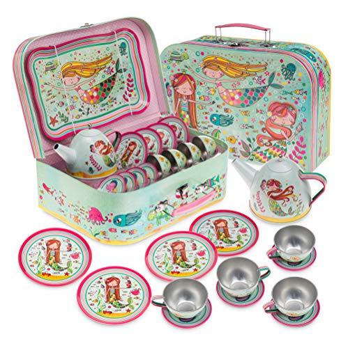 15pcs Girls Pretend Mermaid Tea Set