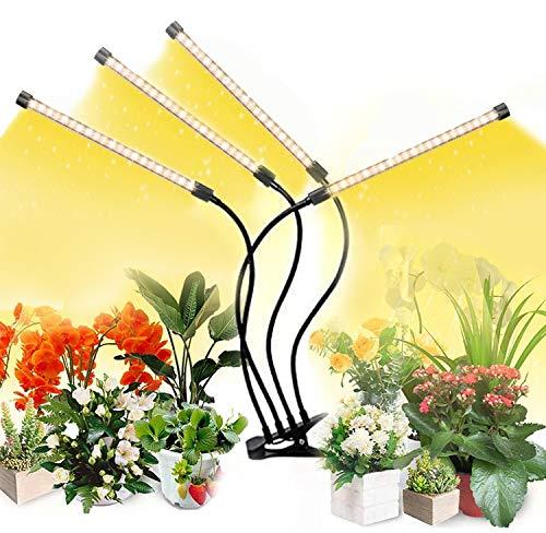 LED Pflanzenlampe Vollspektrum für Zimmerpflanzen Wachstumslampe LED Grow Lampe 360°Einstellbar mit USB Adapter,Pflanzenlicht 80 LEDs, Zeitschaltuhr 3/6/12H