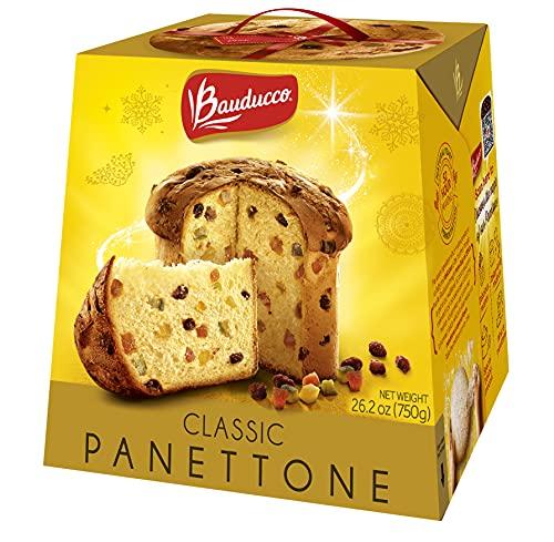 Bauducco Panettone Classic, Moist & Fresh, Traditional Italian Recipe, Holiday Cake, 26.2oz