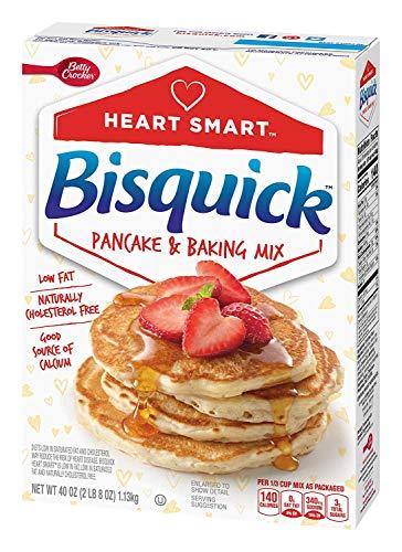Bisquick, Pancake & Baking Mix, Reduced Fat, 40oz Box (Pack of 2)