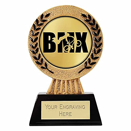 Trophies Plus Medals Gold Hero BMX Trophy 11.5cm (4 5/8') FREE ENGRAVING