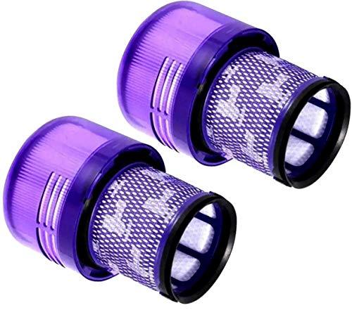 krabla Lot de 2 filtres d'aspirateur compatibles avec Dyson V11 SV14, pour modèles Absolute Extra Pro - Animal Extra - Cyclone - Filtre de rechange lavable - Réutilisable