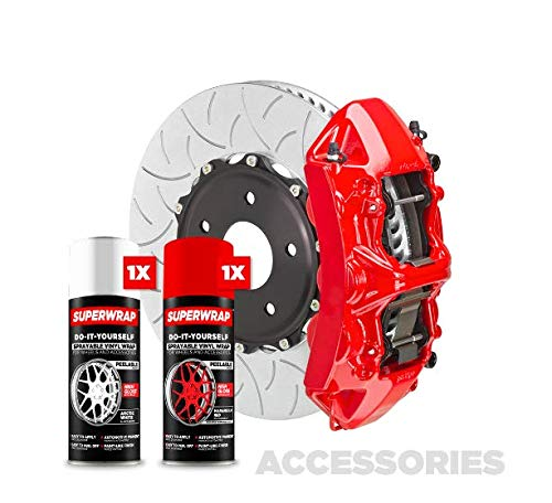 Superwrap Zubehör-Set – Bremssattel, Grills oder Embleme – Vinyl-Folien-Spray (Maranello Red)