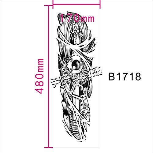 Zhuhuimin 3 stuks/set Waterdichte grote foto volle arm tattoo sticker arm over arm draak volledige rug half tattoo sticker