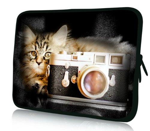 Luxburg Design Custodia Borsa Sleeve Involucro per Notebook Laptop PC portatile Macbook 10,2 pollici, motivo: Coccinelle