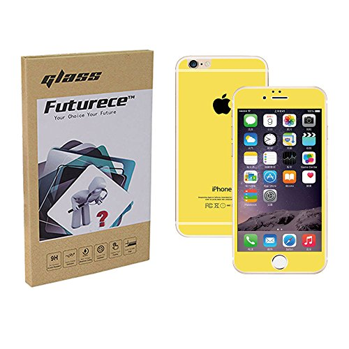 """Yellow Colorful Tempered Glass Screen Protector For iPhone 6 / iPhone 6S Security Guard Film Anti Bubble Extreme Clarity Shield Anti Scratch Fingerprint Resistant Explosion Proof Oleophobic 4.7""""Screen"""