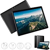 Tablet 10.1 Inch, Android 9.0, 3GB RAM 32GB ROM, Quad-Core Processor, Dual SIM 4G, Dual Camera, Google GMS Certified, Bluetooth, GPS, WiFi, Tablet PC (Black)