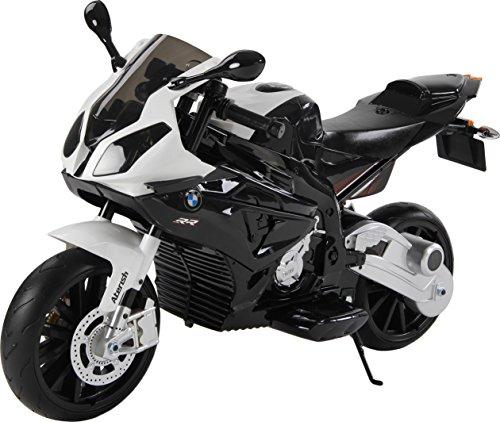 BMW Moto eléctrico con licencia para niños, motor doble de 12 V,...