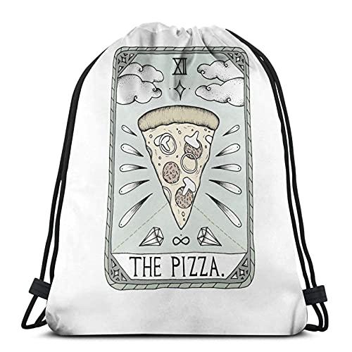 The Pizza Variety - Mochila deportiva con cordón para toalla de cara