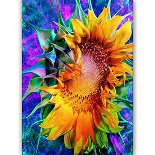 5D Diamond Painting Full Drill Number Kits 3D Mosaic DIY B28732 Sunflower Square Drill,80x100cm Resin Crystal Embroidery Diamond Arts Craft for Home Living Room Wall Decor Gift