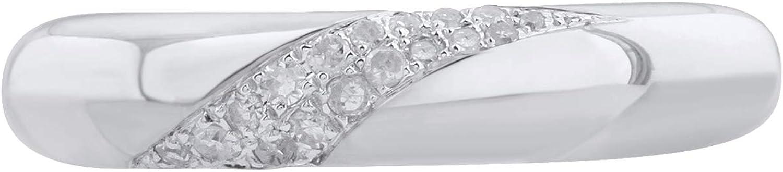 0.08 Carat Diamond Wedding Band Ring in 10K Gold