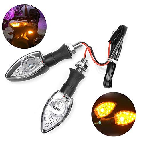 CCAUTOVIE LED Blinker Motorrad E Geprüft Universal LED Blinker Tagfahrlicht Motorrad Blinker Motorrad LED Lauflicht Bernstein E9, 2 Stück
