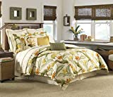 Tommy Bahama Birds of Paradise Collection Comforter Set-100 Percent Cotton, Ultra-Soft Bedding with Matching Shams and Bedskirt, Machine Washable Easy Care, Queen, Coconut