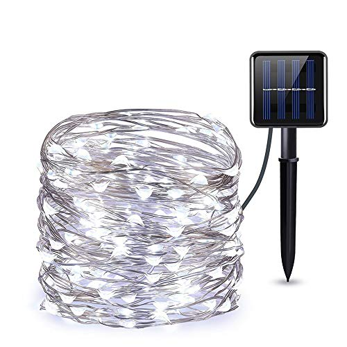 Outdoor Solar String Lights, 100FT 300 LED Solar Powered String Lights with 8 Lighting Modes, Colorful Waterproof Decoration Fairy Lights Rope Lights for Yard Trees Garden Christmas Wedding Party