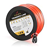 A ANLEOLIFE 3-Pound Commercial Square .155-Inch-by-280-ft String Trimmer Line in Spool,with Bonus Line Cutter, Orange