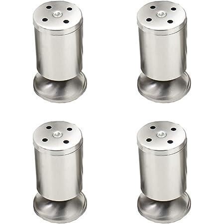 100 mm Juego de 4 x SO-TECH/® Patas de Mueble ALPHA Alto ajustable Aluminio cepillado Capacidad de Carga hasta 250 kg Alto