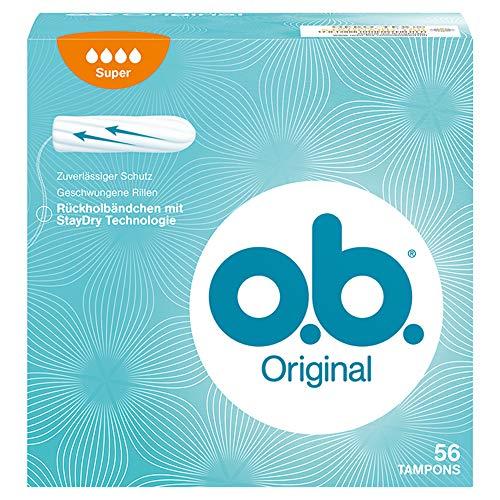 o.b. Original Super, Tampons mit geschwungenen Rillen, 56 Stück