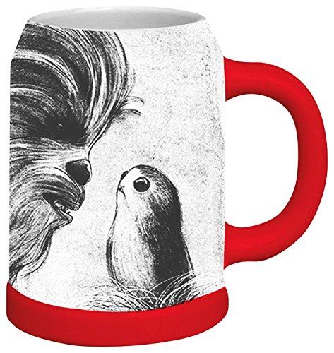 Funko SW05364 Star Wars Last Jedi: Basic Stein: Big Brown Bear and Bear Island Birds, Ceramic, White, 11 x 16 x 14 cm
