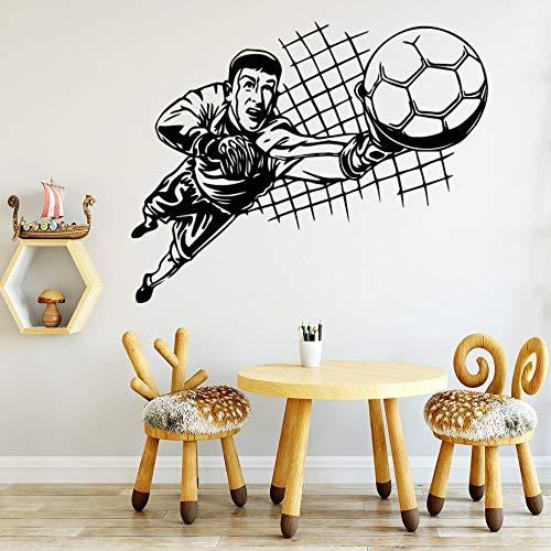 wZUN Divertida Pegatina de Pared de fútbol para habitación de niños, Pegatina, calcomanía de Vinilo, calcomanía de Pared extraíble 85X106cm