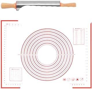 Tapis de cuisson anti-adhésif en acier inoxydable avec épinglette et tapis de cuisson pour pâtes 772-L