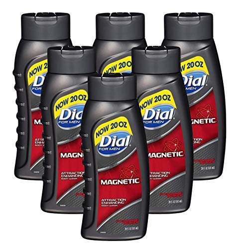Dial for Men Magnetic, Attraction Enhancing-Pheromone Infused Body Wash, 20 Ounce (Pack of 6)