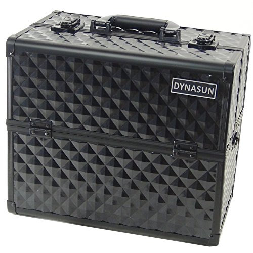 DYNASUN BS38 36x24x30.5cm XXL Schwarz Designer Profi Beautycase Schminkkoffer Kosmetikkoffer Schmuckfach Beauty Case Reise Box