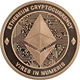 Ethereum 1oz Copper Round 0.99% Pure Copper Limited Mintage Collectors Coin These Beautiful Coins Make Great Gifts for Friends and Family Members!