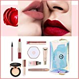 Set maquillaje cosmético regalo Set maquillaje para principiantes Kit de maquillaje multiusos con brillo de labios, rímel, lápiz de maquillaje, corrector para regalo de cumpleaños de boda de Navidad