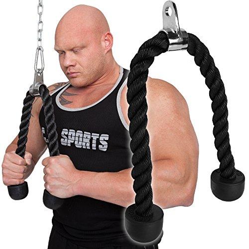C.P. Sports Trainingshilfen Trizeps Seil Trizepsseil, Schwarz, One Size
