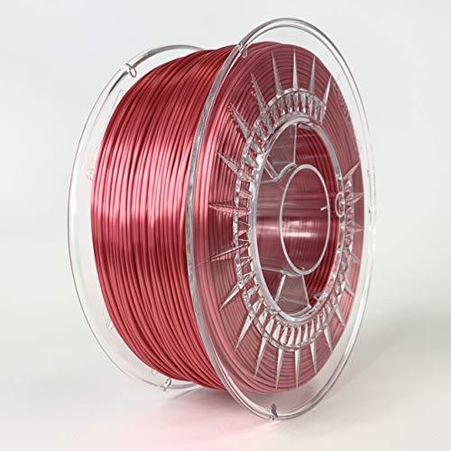 Devil Design SILK Red, 1.75mm, 1kg of high gloss filament made in Europe