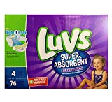 Luvs Super Absorbent Leakguards Diapers, Size 4, 76 Count