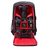 G-raphy Camera Bag Camera Backpack Photography Waterproof with Laptop Compartment/Tripod Holder for DSLR SLR Cameras / Lenses / Flashes etc (Red)