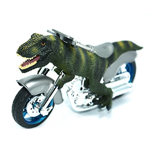 BigNoseDeer Tirannosauro Rex,T-Rex Dinosauro Giocattolo Motocicletta, Super Realistico Dinosauri Motociclo per Il Bambino
