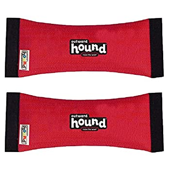 Outward Hound Kyjen 30004 FireHose Squeak N  Fetch Dog Toys Squeak and Fetch Toy Medium Red  2 Pack