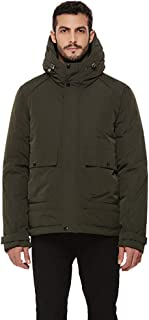 Men's Heavy Duty Thickened Hooded Parka Puffer Down Jacket Anorak Winter Insulated Coat
