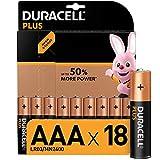 Duracell - Plus AAA, Pilas Alcalinas (paquete de 18 con apertura simplificada) 1.5 Voltios LR03 MN2400