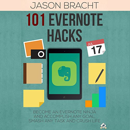 Evernote: 101 Evernote Hacks! audiobook cover art
